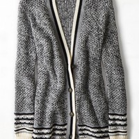 AEO Women's Striped Waffled Cardigan