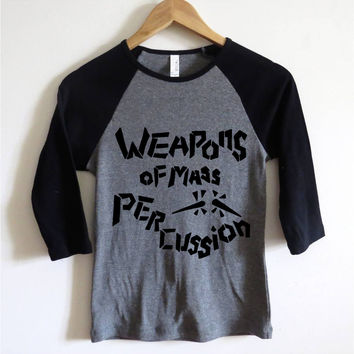 Weapons Of Mass Percussion Baseball Tee | CrewWear