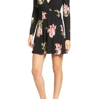 Lush Floral Print Wrap Dress | Nordstrom