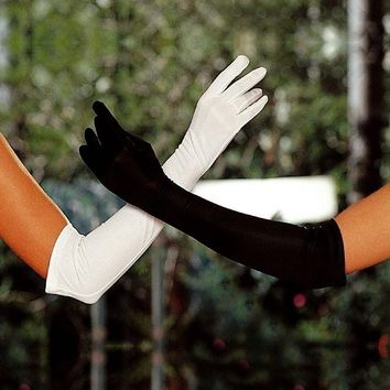 Shirley of Hollywood IS-SOH-219 The elbow Satin Opera Gloves