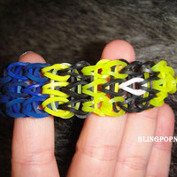 yellow minon rainbow loom braclet