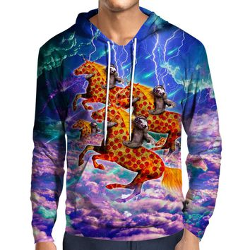 Sloths Pizza Steads Hoodie