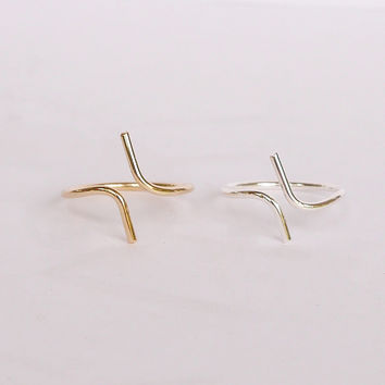 Dainty Double Bar Ring