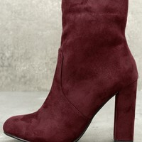 Liverpool Vino Burgundy Suede Mid-Calf Boots