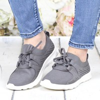 Not Rated: Marie Perforated Memory Foam Sneakers {Grey}