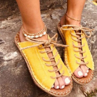 Hot style comfortable flat flat peep-toe fish mouth strappy sandals