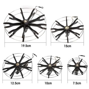 Diameter 80 To 200mm Durable Steel Wire Frame Fishing Reel Thickened Plastic Axles Fishing Tools Tackle Accessory New
