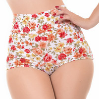 Lush Retro Inspired High Waist Swim Bottoms