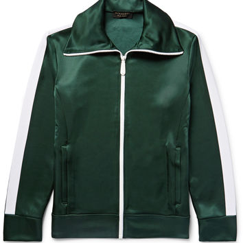 Burberry - Striped Satin-Jersey Track Jacket