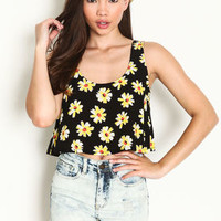 Sunflower Crop Top - LoveCulture