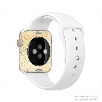 The Vintage Golden Tiny Polka Dots Full-Body Skin Set for the Apple Watch