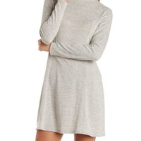 Natural Mock Neck Sweater Dress by Charlotte Russe