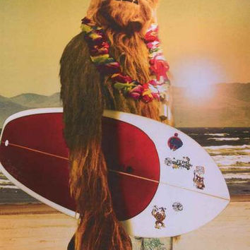 Star Wars Chewbacca Surfing Poster 24x36