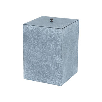 Faux Concrete Trash Can
