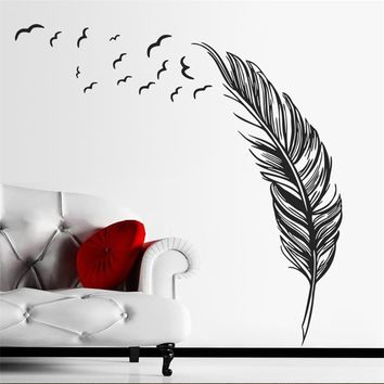 Flying Bird Feather Home Decoration Wall Sticker