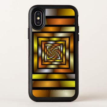 Luminous Tunnel Colorful Graphic Fractal Pattern OtterBox Symmetry iPhone X Case