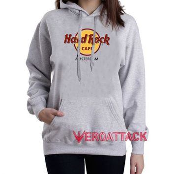 Hard Rock Amsterdam Grey Color Hoodie