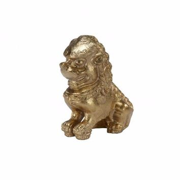 Foo Dog Gold Bookends