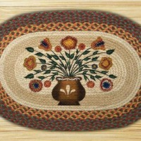 Penny Flowers Oval Patch Rug