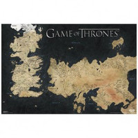 Game of Thrones Westeros - Essos Map Poster [24x36]