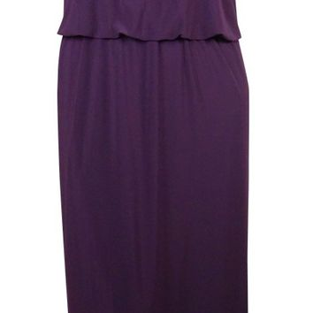Patra Women's Beaded Cap Sleeve Blouson Maxi Dress