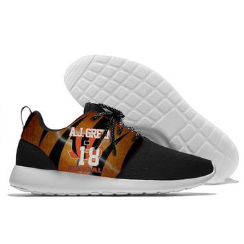 Running Shoes lace-up Sport Shoes with Cincinnati Bengals players Andy Dalton and Clint Boling logo Men and Women shoes