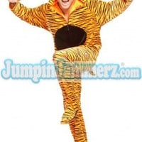 Trippin Tiger - Costumes - Pajamas Footie PJs Onesuit One Piece Adult Pajamas - JumpinJammerz.com