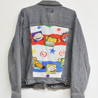 Rugrats Reworked Denim Jacket