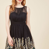 Beautifully Abloom Fit and Flare Dress in L