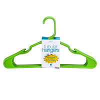 Green Plastic Tubular Hangers, 8-ct. Packs at Deals