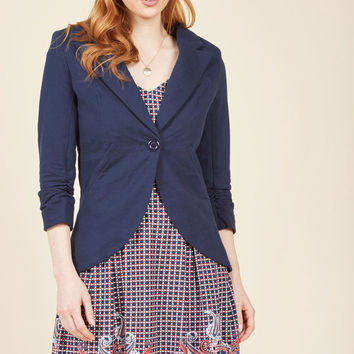 Fine and Sandy Blazer in Navy
