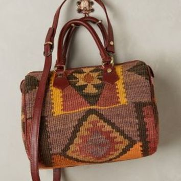 One-of-a-Kind Kilim Satchel by Artemis Assorted One Size Bags