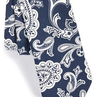 Men's Ted Baker London Paisley Cotton Blend Tie