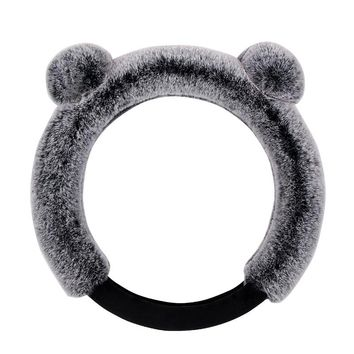 Winter Plush Car Steering Wheel Cover Cute Cartoon Cat Ears