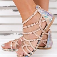 Chantel Not Rated Sparkle Sandals (Bronze)