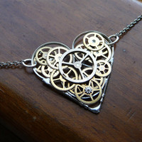 Clockwork Heart Necklace Emotion Factory by amechanicalmind