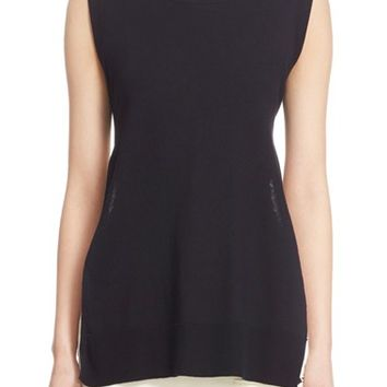 Adam Lippes Tie Back Cotton & Cashmere Knit Tunic | Nordstrom