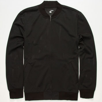 Elwood Mesh Mens Bomber Jacket Black  In Sizes