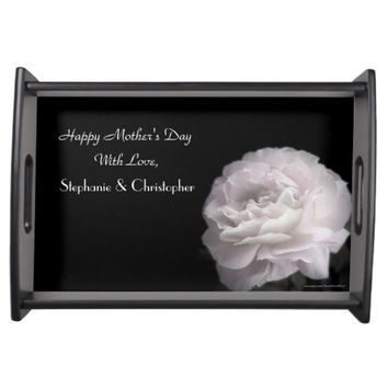 Custom Mother's Day Serving Tray Pale Pink Rose