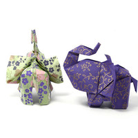 You and Me 3D free style origami sculpture by by JinniInTheLamp