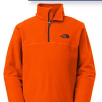 The North Face Glacier Quarter Zip Fleece Pullover for Boys in Orange