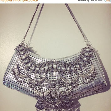 On Sale Silver Old Hollywood Evening Bag