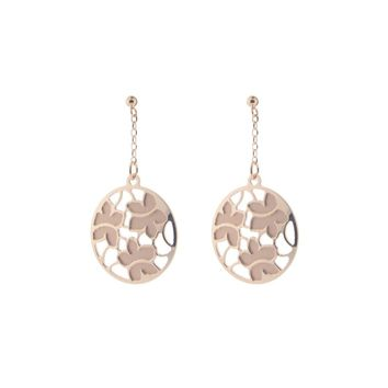 Etruscan Rose Gold Flower Earrings in Sterling Silver