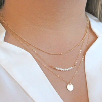 Multi-Layer Dainty Chain Necklace