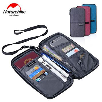 Naturehike Travel Wallet Documents Organizer Zipper Case Family Passports Holder with Wristlet Strap