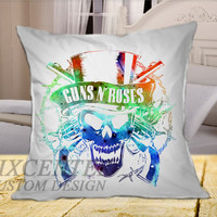 Guns N Roses Galaxy Nebulla on Square Pillow Cover