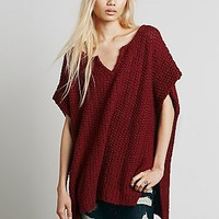 Free People Womens Split Neck Pullover