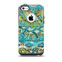 The Vector Teal & Green Snake Aztec Pattern Skin for the iPhone 5c OtterBox Commuter Case