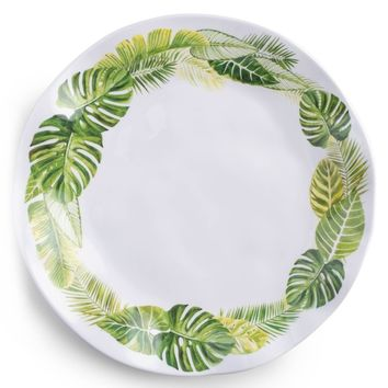 Palm Melamine Dinner Plate Set (Set of 4)