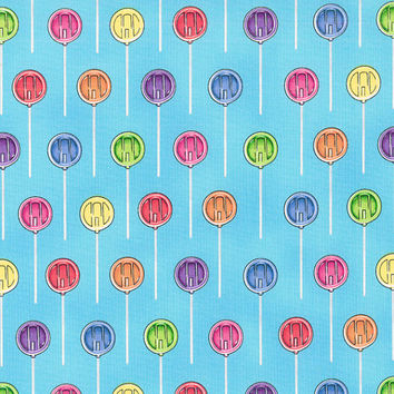 RJR Fabrics Dan Morris The Sweet Scoop 1223 01 Lollipops on Blue By the Yard